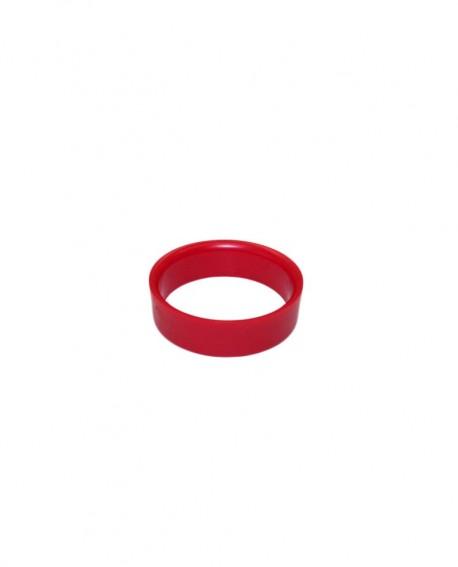 Anneau droit rouge pour bille Ø 52.4mm