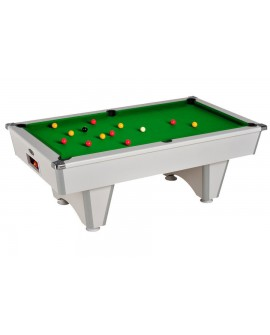 Table billard de café Domestic blanc