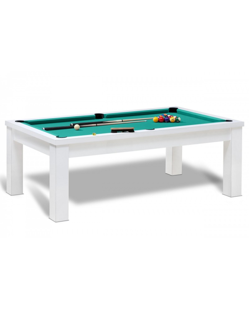 Table billard convertible bahia blanc pas cher billard table converti - Billard convertible table ...
