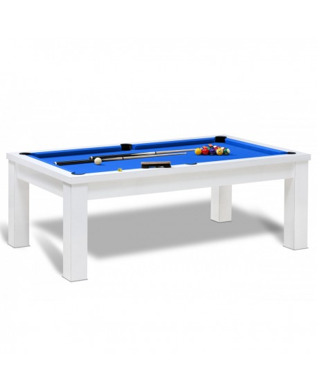 Table billard convertible bahia blanc pas cher billard - Table de billard convertible table a manger ...