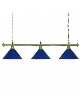 Luminaire de Billard Louxor - Bleu 3 globes