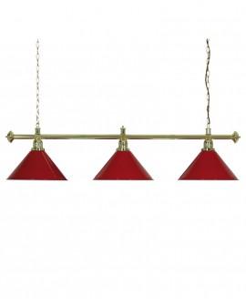 Luminaire de Billard Louxor - Rouge 3 globes