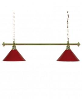 Luminaire de Billard Louxor - Rouge 2 globes