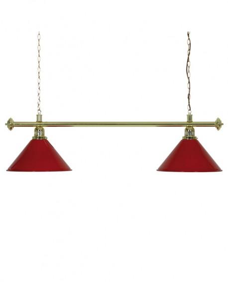 luminaire de billard louxor rouge 2 globes pas cher accessoires billard. Black Bedroom Furniture Sets. Home Design Ideas