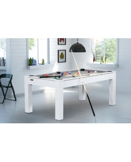 Table billard convertible 6ft Delhi blanc gris