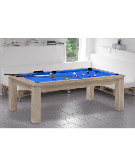 Table billard convertible Belem Chêne naturel