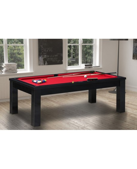 Table billard convertible Brasilia Noir