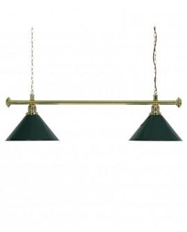 Luminaire de Billard Louxor - Vert 2 globes
