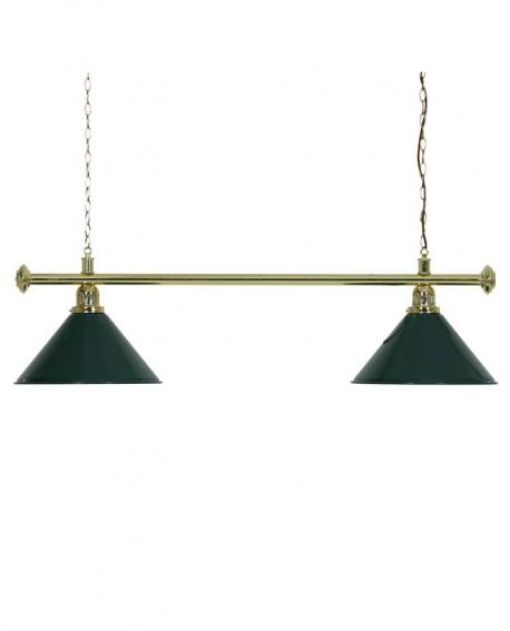 Luminaire 2 Globes louxor vert