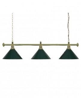 Luminaire de Billard Louxor - Vert 3 globes