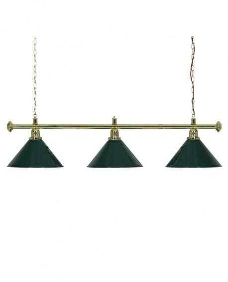Luminaire 3 Globes louxor vert