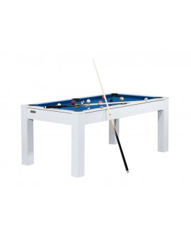 Table billard convertible 6ft Delhi blanc bleu