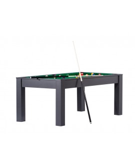 Table billard convertible 6ft Delhi noir vert