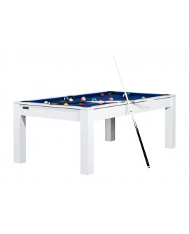 Table billard convertible 7ft Louxor blanc bleu