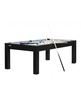 Table billard convertible 7ft Louxor noir gris