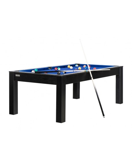 Table billard convertible 7ft Louxor noir bleu