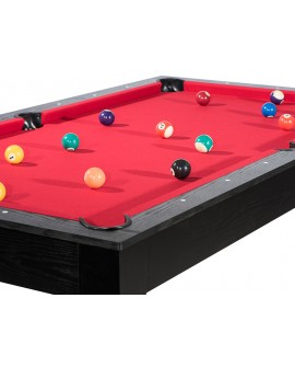 Table billard convertible 7ft Louxor noir rouge