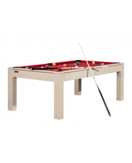 Table billard convertible 7ft Louxor hêtre rouge