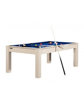 Table billard convertible 7ft Louxor hêtre bleu