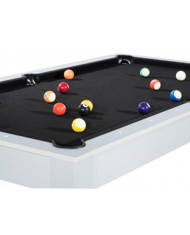 Table billard convertible 7ft Louxor gris tapis noir