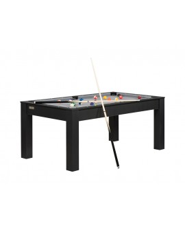 Table billard convertible 6ft Delhi noir gris