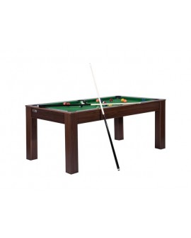 Table billard convertible 6ft Delhi wengé vert