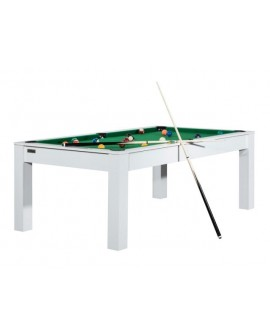 Table billard convertible 6ft Louxor blanc vert
