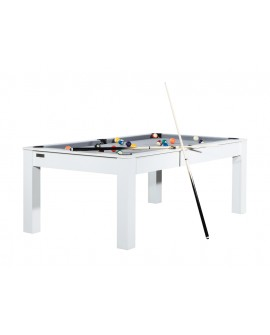 Table billard convertible 7ft Louxor blanc gris