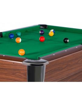 Table billard 7ft Wembley wengé tapis vert