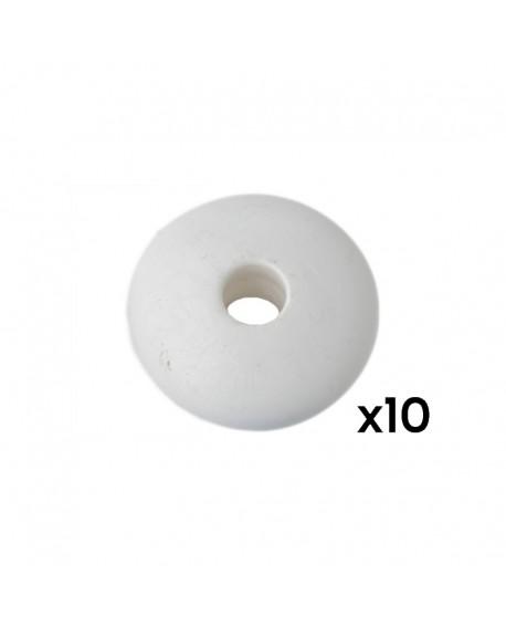 Billes de marque plastique blanc Stella