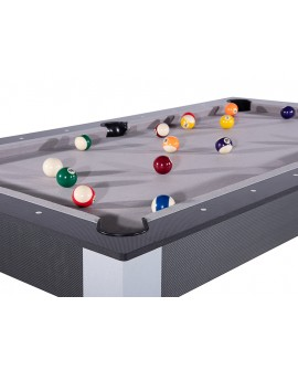 Table billard convertible 6ft Delhi carbone gris