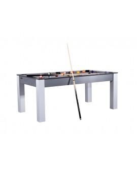 Table Billard Convertible 6ft Delhi Carbone Gris