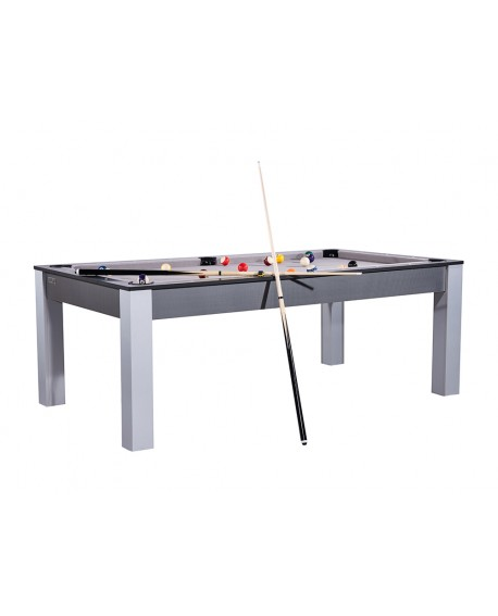 Table billard convertible 7ft Louxor carbone gris