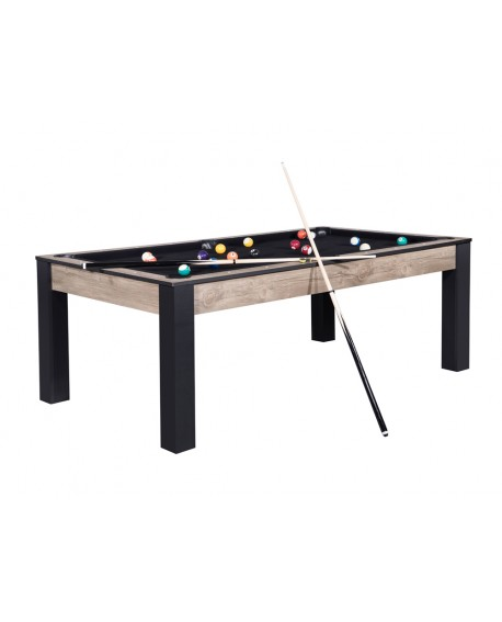 Table billard convertible 7ft Louxor industriel