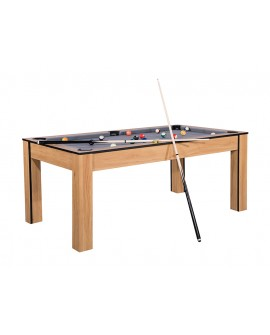 Table billard convertible 6ft Delhi Chêne gris