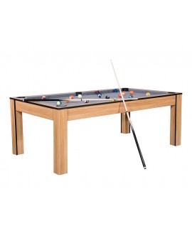 Table billard convertible 7ft Louxor Chêne gris