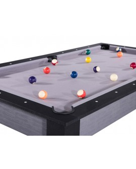 Table billard convertible 6ft Delhi gris et noir