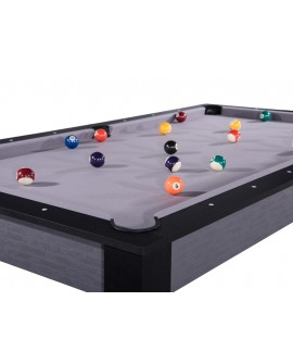 Table billard convertible 7ft Louxor gris et noir