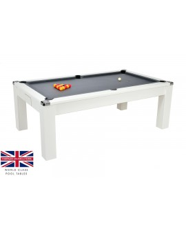 Table billard convertible Burton V2 Blanc