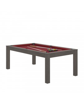 Table billard convertible René Pierre Charme gris anthracite