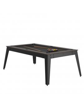 Table billard convertible René Pierre Steel Anthracite
