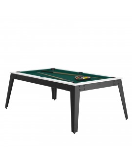 Table billard convertible René Pierre Steel Blanc