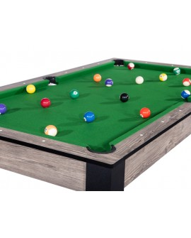 Table billard convertible 7ft Louxor industriel vert