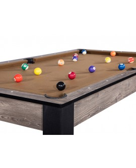 Table billard convertible 7ft Louxor industriel brun