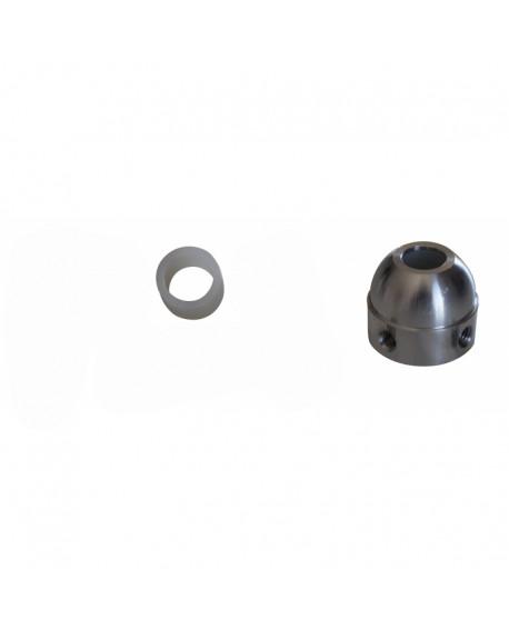 Coussinet nylon 12mm pour palier alu bout de barre Petiot