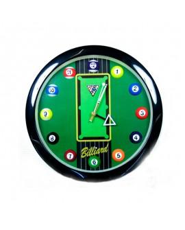 Horloge ronde billard pool us