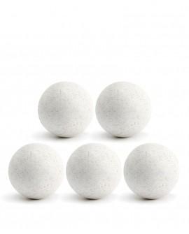 Balles de baby-foot blanches en liège x5