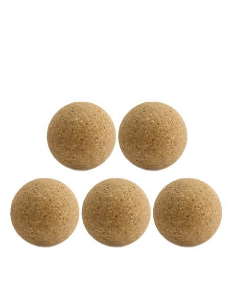 Balles de baby-foot brutes en liège x5