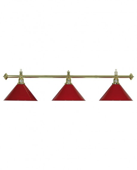 Luminaire 3 Globes louxor rouge