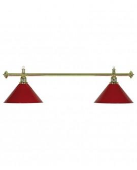 Luminaire 2 Globes Louxor  rouge